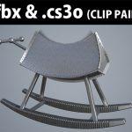 [RJ200371] 3D素材 三角木馬 金属特殊製 01