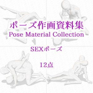 【ポーズ作画資料集040】SEXポーズ12点 [RJ314095][cli_pose]