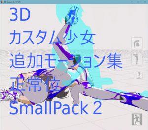 3Dカスタム少女追加モーション正常位smallpack2 [RJ321058][モーション作成屋]